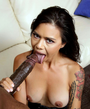 Tattooed asian pornstar Dana Vespoli..