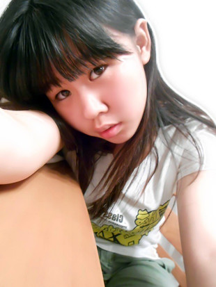 Little Chinese teen with beautiful..