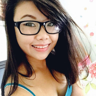 Sexy chinese girl in glasses and with..