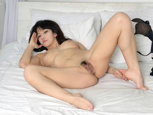 Asian nubile hairy pussy set
